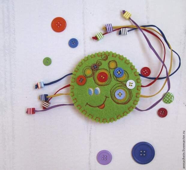 "Шьем развивающую игрушку ""Паучок"" из фетра"