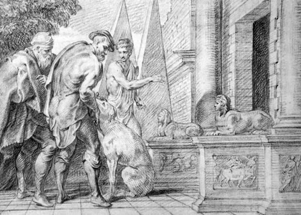 Теодор ван Тюльден, «Одиссей признан своей собакой»