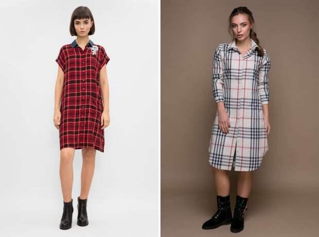 модные платья рубашки