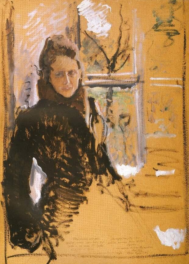 Серов В.А. Портрет жены О.Ф.Серовой. Конец 1880-х - начало 1890-х