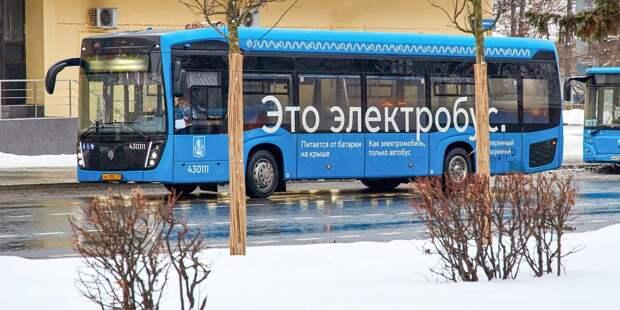На двух автобусных маршрутах в Ростокине стали работать электробусы