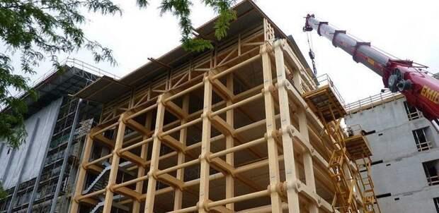 Строительство деревянных многоэтажек могут разрешить в РФ | Пикабу