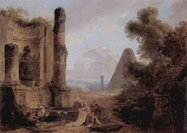 Египет в изображении Робера Юбера, художника-руиниста XVIII века