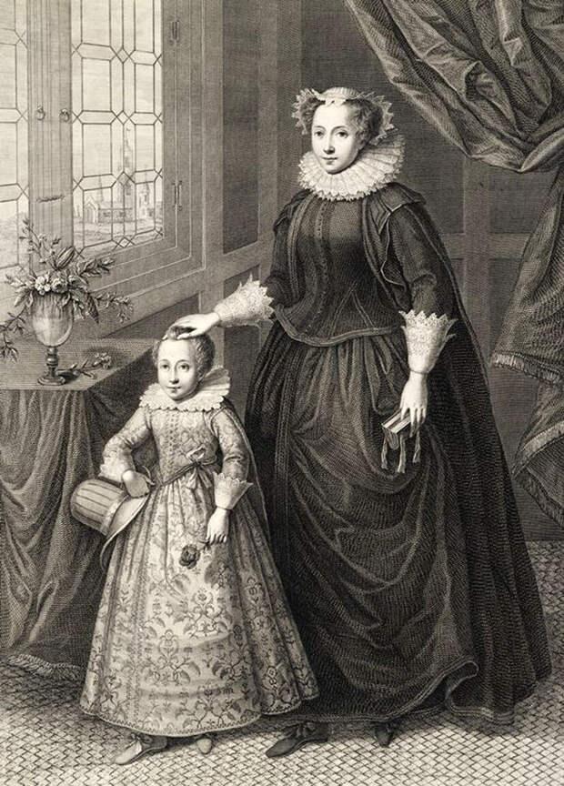 James and Mary Queen of Scots. Мария с сыном