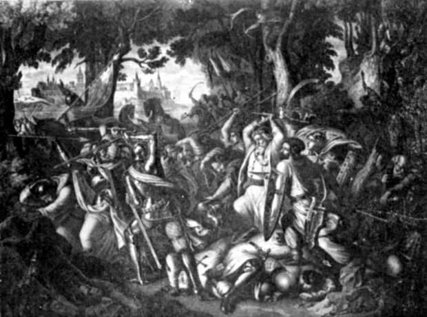Разгром тевтонцев молдаванами под Мариенбургом, 1422 год. upload.wikimedia.org - Свидригайловы войны: яблоко раздора | Warspot.ru