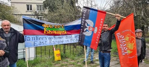 В столице Болгарии прошел пикет за выход из НАТО