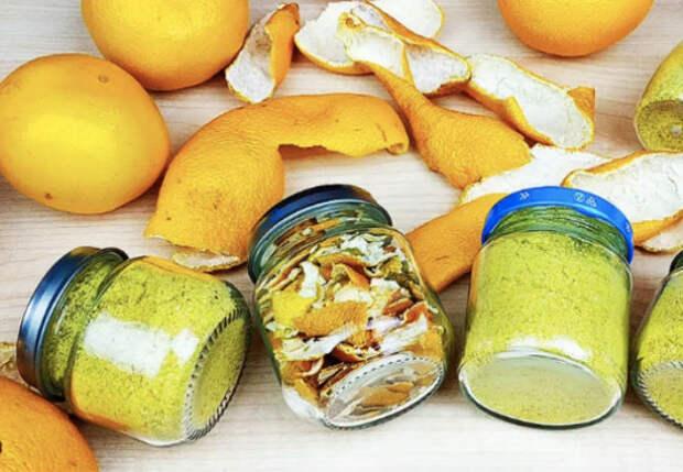 Кожуру от мандаринов не выбрасываем: натерли и в банку