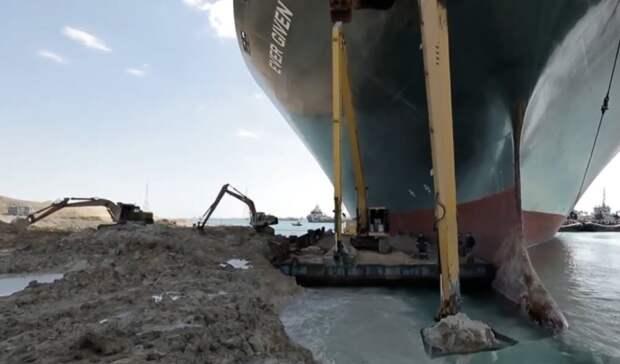 Президент Египта сообщил обуспешной разблокировке Суэцкого канала