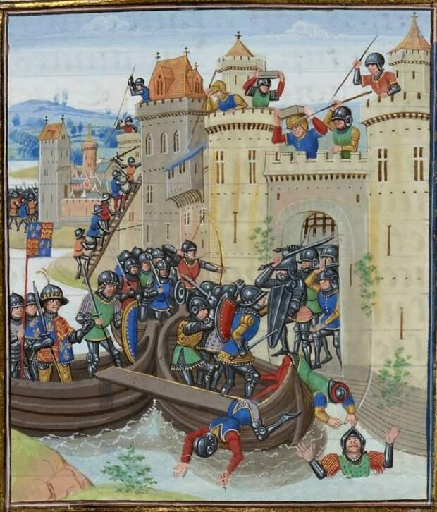 Рыцари и тактика Столетней войны: битвы на море