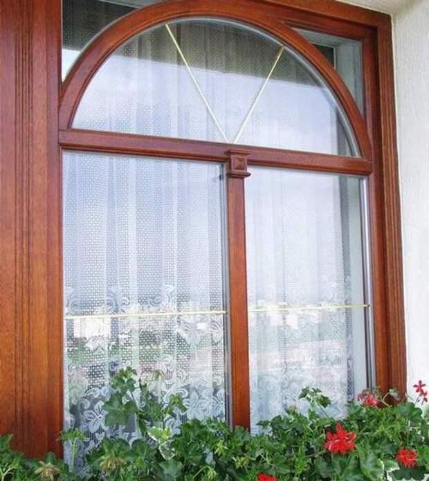 деревянные арочные окна