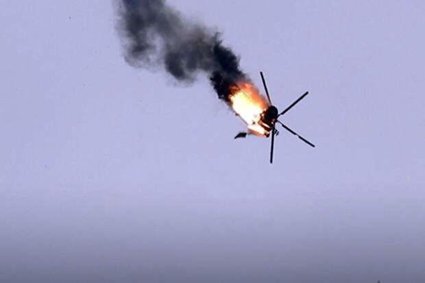 В сети появились кадры уничтожения азербайджанского вертолета над Карабахом