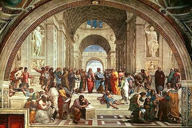 Рафаэль Санти. «Афинская школа» (1511).
