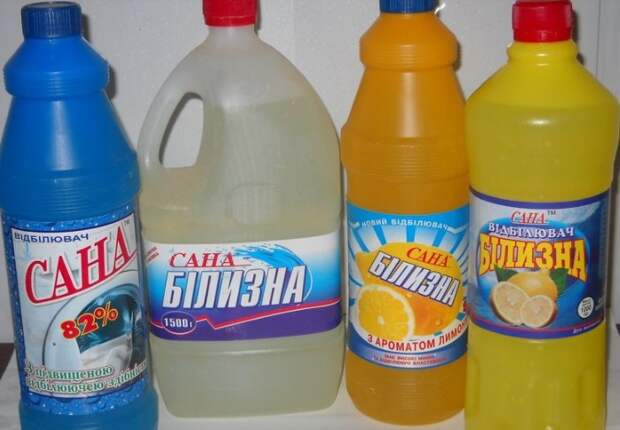Спирт с отбеливателем образуют токсичное соединение / Фото: odezhda.guru