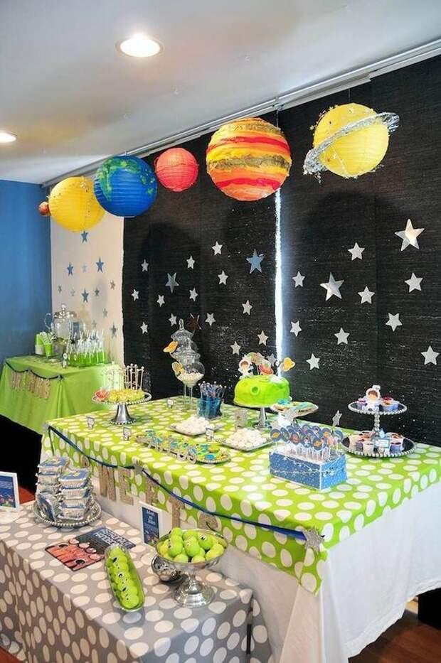 оформление детских праздников в космической тематике
