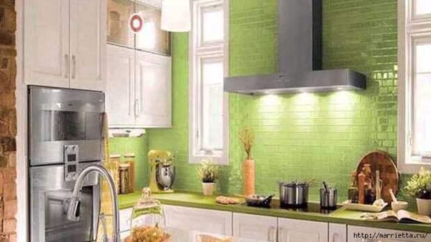 Как правильно оформить кухню в зеленых тонах (11) (700x393, 190Kb)