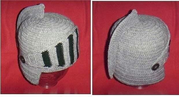 Вязание рыцарского шлема diy