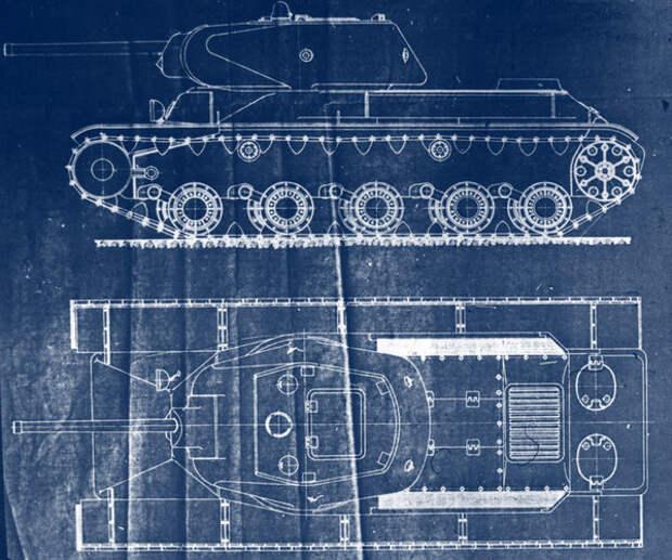 Эскизный проект тяжелого танка КВ-13, май 1942 года