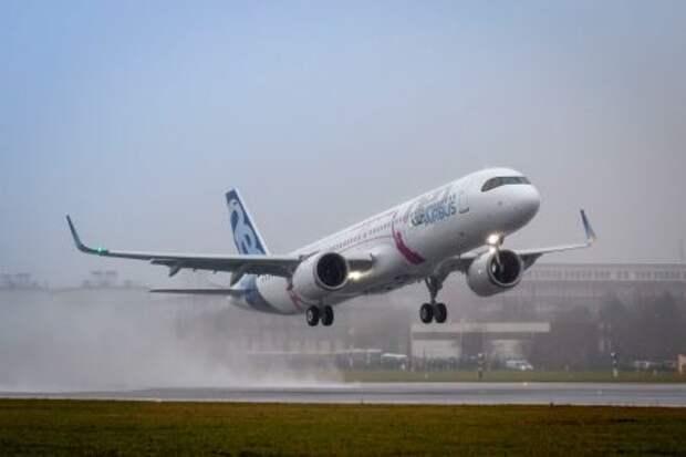 Первый полёт Airbus A321LR