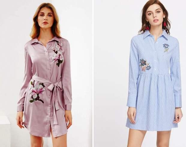 тенденции моды весна лето 2018 платье рубашка