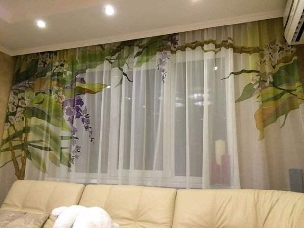 Фото-шторы. Очень красиво!