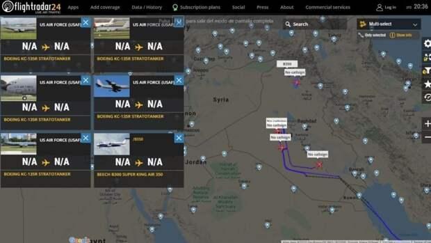 В воздушном пространстве Ирака активизировались американские топливозаправщики