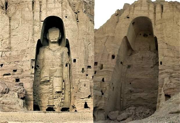 В 2001 году талибы уничтожили древние Бамианские статуи Будды в рамках борьбы с язычеством.