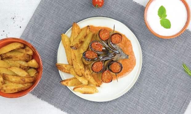 Цветы из баклажанов с мясом: невероятно красивое и вкусное блюдо
