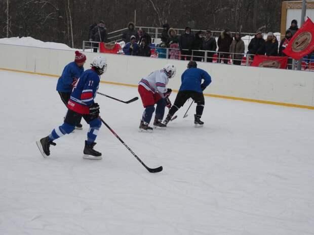 В ландшафтном парке «Митино» прошёл хоккейный турнир