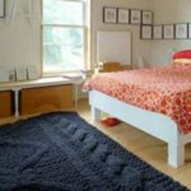 вязанные коврики для дома