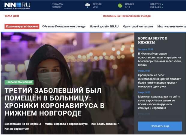 Главные страницы российских СМИ, принадлежащих Hearst Shkulev Media (США) и коронавирус