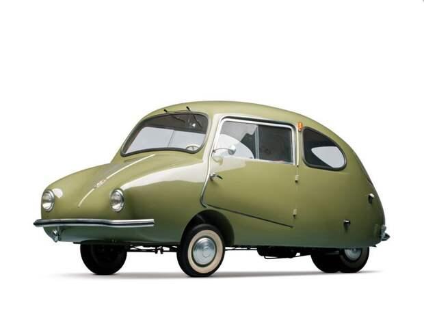 Fuldamobil S-6 (1956) автомир, аэродинамика, из прошлого, конструкция, обтекаемость. формы
