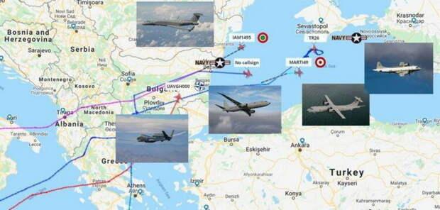 """Авиация НАТО """"нацелилась"""" на Черноморское побережье России"""