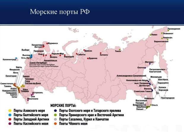 РФ возвращает собственные порты под собственный контроль