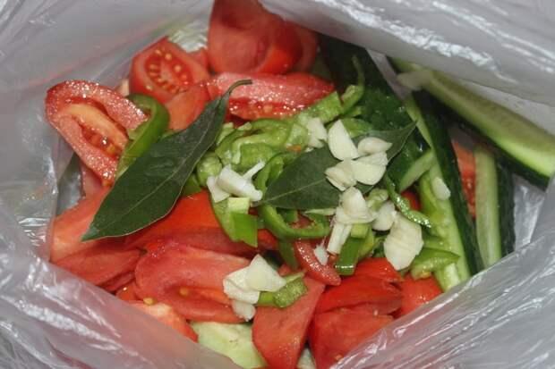 Малосольные овощи в пакете. Вкусные, хрустящие, в меру солёные 4