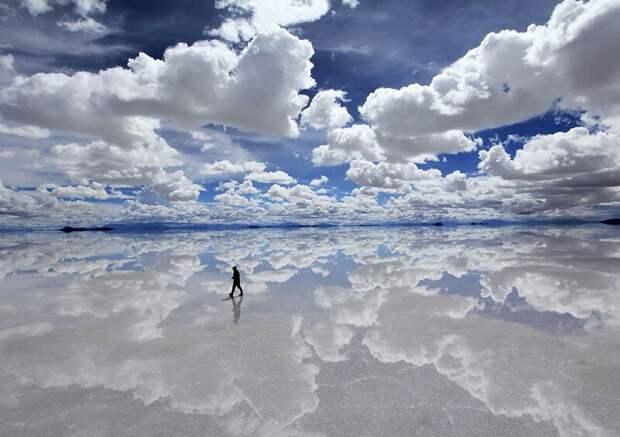 Салар де Уюни, высохшее соляное озеро в Бразилии