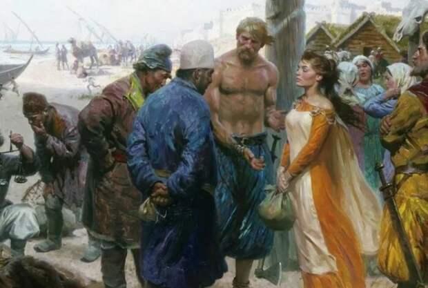 Большинство угнанных попадали на рынок рабов.
