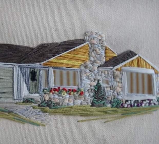 Нежная, уютная и красивая техника вышивки гладью