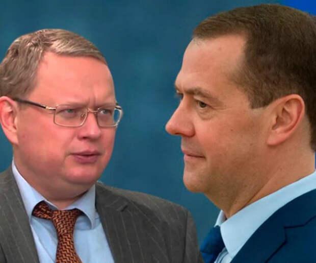 М. Делягин и Д.Медведев