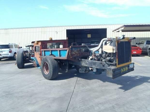 Сумасшедший рэт-род с дизельным двигателем на базе школьного автобуса ford, авто, автомир, кастомайзинг, найдено на ebay, рэт-род, самоделка, тюнинг