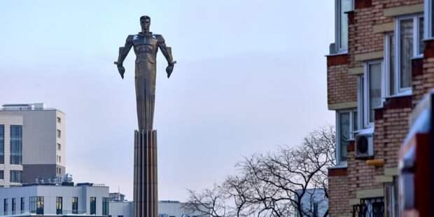 Памятник Гагарину в Москве отреставрируют — Сергунина. Фото: М. Денисов mos.ru
