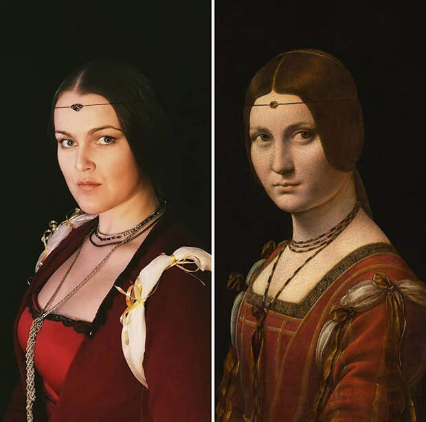 Леонардо да Винчи. Прекрасная Ферроньера, 1499.