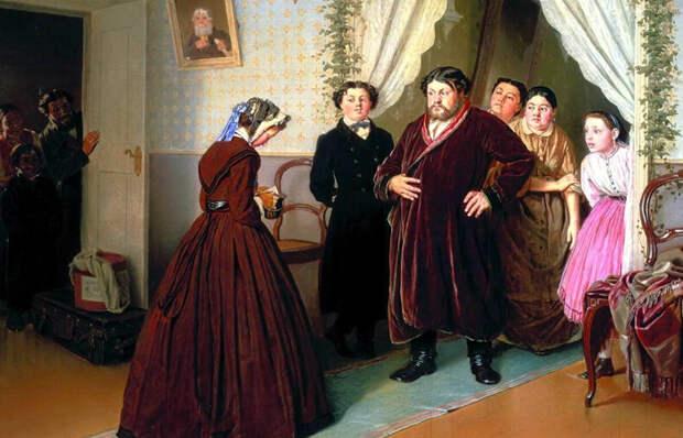 Что на самом деле рассказал на картине «Приезд гувернантки в купеческий дом» Василий Перов