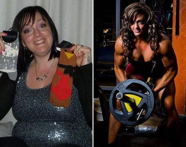 Из 115-килограммовой мамы, любящей поесть, в чемпионку по бодибилдингу