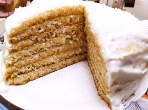 Нежный манный торт без выпечки в духовке. Вкуснее любого бисквита