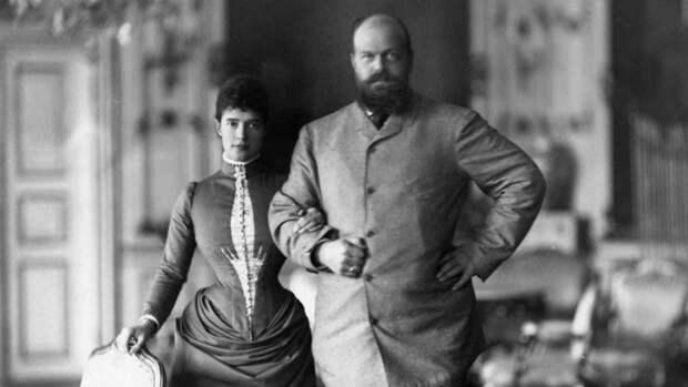 Император Александр III с супругой