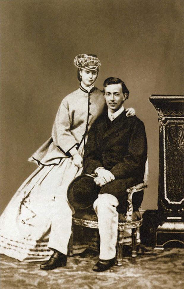 Принцесса Дагмар Датская с цесаревичем Николаем Александровичем