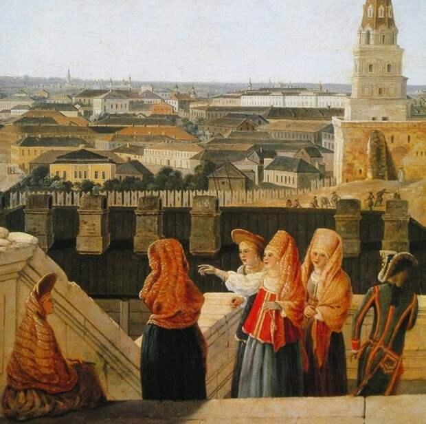 Вид на Москву с балкона императорского дворца. Жерер Делабарт, 1797 г. Источник rbth.com