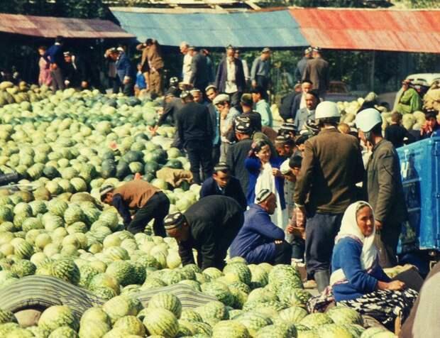 На рынке в Самарканде, 1971 год история, ретро, фото, это интересно