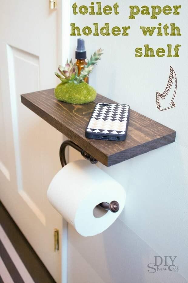 Необычные идеи хранения туалетной бумаги, которые украсят ванную комнату