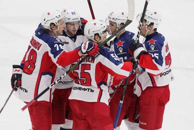 ЦСКА победил «Северсталь» в выездном матче КХЛ